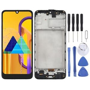 For Samsung Galaxy M30S TFT Screen Touch Digitizer With Frame Glass Part BLACK
