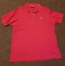 Lacoste Red Stretch Pique Polo M Size 6 Mod Ska Scooter Casuals Skins Shirt
