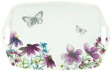 Large Melamine Tray Stunning Floral Rectangle Serving Tray With Handles 48 cm