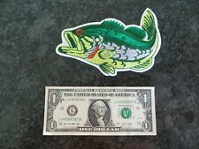 Leaping Largemouth Bass Shirt Patch - 6 1/4 x 3 1/2 inch