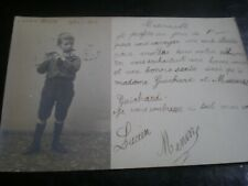 More details for old postcard music french child prodigy lucien menin used 1905