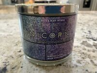 Bath & Body Works 14.5oz Unicorn Sprinkles Limited Edition 3 Wick Candle