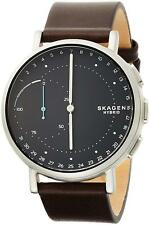 Skagen SKT1111 Men's Hybrid Smartwatch 42mm Black Dial Brown Leather Watch