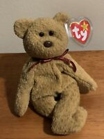 EXTREMELY RARE Ty Beanie Baby 'Curly' Retired Bear with MANY Errors