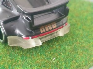 Custom 1:64 Scale Clear Resin Printed Porsche 930 RWB Rear Bumper Hot Wheels