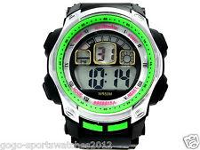 Watch Digital Sports Men School Boys Alarm Calendar Watchlight Timer Plastic New