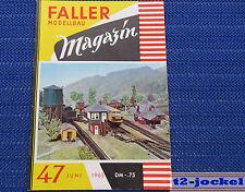 Faller  AMS --  Modellbau Magazin 47 von 1965