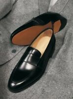 Handmade Men Leather Dress Shoes, Men black Leather formal Shoes, Mens shoes