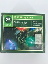 Holiday Time  25 count C9 CHRISTMAS Light Sets NOS