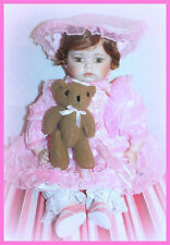 """J. Misa Collection 24"""" Lisa Porcelain Large Toddler Doll Le# 357/5000 Pink"""