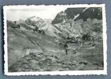 France, La Mer de Glace  Vintage silver print.  Tirage argentique d'épo