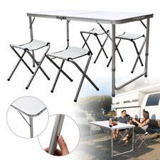 Campingtisch Klapptisch Koffertisch mit 4 Hocker Buffettisch Alu Camping Tisch