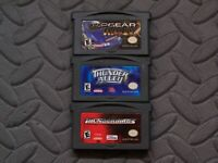 Lot Nintendo Game Boy Advance GBA Games Top Gear Rally, Thunder Alley, +