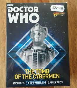 """Warlord Games Dr Who """"The Tomb of the Cybermen"""" 5 metal figures NEW/SEALED"""