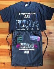 Generation Axe Tour Vip Shirt Bookmark Lanyard Gym Bag Vai Wylde Malmsteen
