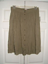 99aa8e284 Forever21 Contemporary Ladies Large Olive Button Down Front Flow Skirt (NEW)