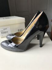 FAITH Designer Ladies Women Court High Heel Sandal Shoe Black Grey Size 4 37