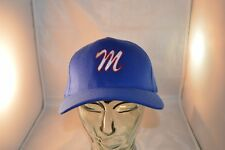 "Vintage Ball Cap Babe Ruth League Embroidered ""M"" Stretch Fit Md/LG  NW/OT"