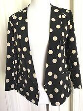Anthropologie Corey Lynn Calter Point Blazer Size 2 Black Cream Polka Dots