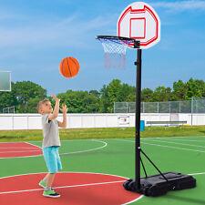Basketball Stand Net Hoop Sports Backboard Portable Adjustable Wheels In/Outdoor