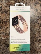 Stainless Steel Link Apple Watch Band Rose Gold 38-40mm