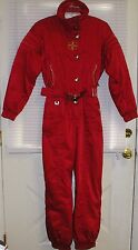 Spyder One Piece Ski Snow Suit Snowmobile Ladies Sz 8 RED w/ Embroidery Thinsula