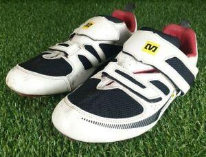 Men's white Mavic Ergoride Carbon Cycle Shoes Size UK10.5