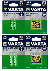 Varta Power Akkus AAA AA Micro Mignon 550 800 1000 2600 mAh für u.a. Telefon