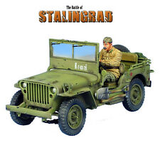 RUSSTAL037 Russian Lend-Lease Willys Jeep with Driver by First Legion