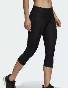 Adidas Ladies Response 3/4 Black Running Tights, Size XS, New With Tags