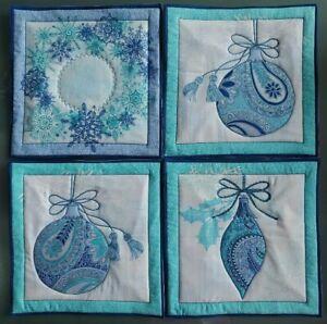 Pot Holder Christmas Ornament Designs Casserole Hot Mat, Hot Pad-Handmade Cotton