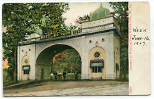 Entrance to Wheeling Park Wheeling West Virginia 1907c postcard