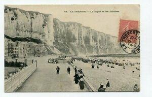 D16476 Le Tréport La Digue et les Falais 1907 Postcard France