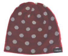 Cuglog Thor Polka Dot Knit Beanie Hat Red White