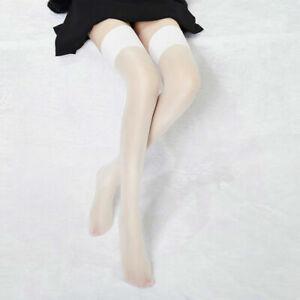 Women's Shiny Stretchy Thigh High Stockings Nightclub Pantyhose Stay Up Hosiery