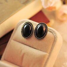 Style Jewelry Alloy Ear Stud Big Rhinestone Leopard Print Earrings Elliptic
