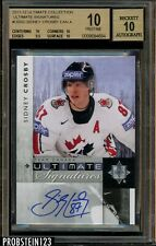 2011-12 Ultimate Collection Hockey Sidney Crosby Team Canada BGS 10 w/ 10 AUTO