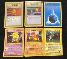 1999 Pokemon TCG Base Set -Shadowless Card Lot (6)