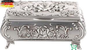Antike Schmuckdose Schmuckkästchen Metall  Schatulle Schatztruhe Geschenkbox WOW