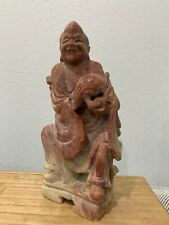 Antique Chinese Soapstone Carving Man Possibly Immortal Lan Caihe Figurine