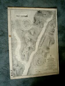 Vintage Admiralty Chart 3739 W. SCOTLAND - UPPER LOCH LONG & LOCH GOIL 1928 edn