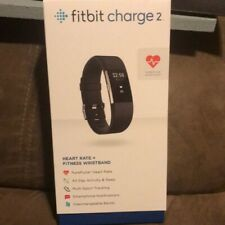 Authentic Fitbit Charge 2  Heart Rate And Fitness Activity Tracker - Black HR