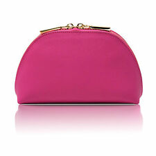 LEXI Deluxe Pink Saffiano Leather Cosmetic Make-up Travel Case Bag by MPS