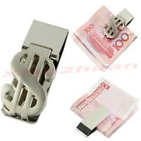 New Money Slim Clip Stainless Steel Dollar Design Cash Bills Credit Card Holder