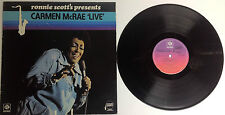 "Ronnie Scott's Presents Carmen McRae  ""Live"" LP  Import From The UK"