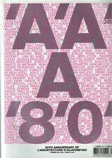 L'ARCHITECTURE D'AUJOURD'HUI [AA] N° 380 NOV-DÉC 2010 - AA A 80 ANS -