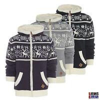 Soulstar Mens Designer Fleece Lined Hooded Zip Sweatshirt, Grey/Black/Plum. BNWT