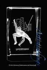 3D LASER CRYSTAL PAPERWEIGHT SPIDERMAN -