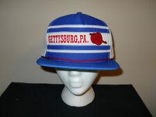 Vtg Gettysburg Civil War Snapback Hat trucker