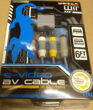 GOLD AV & S VIDEO CABLE MADE BY KOMODO FOR NINTENDO WII SYSTEM COMPOSITE RCA